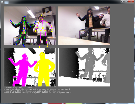 ofxKinectNui: an addon of Kinect SDK for oF - extend - openFrameworks