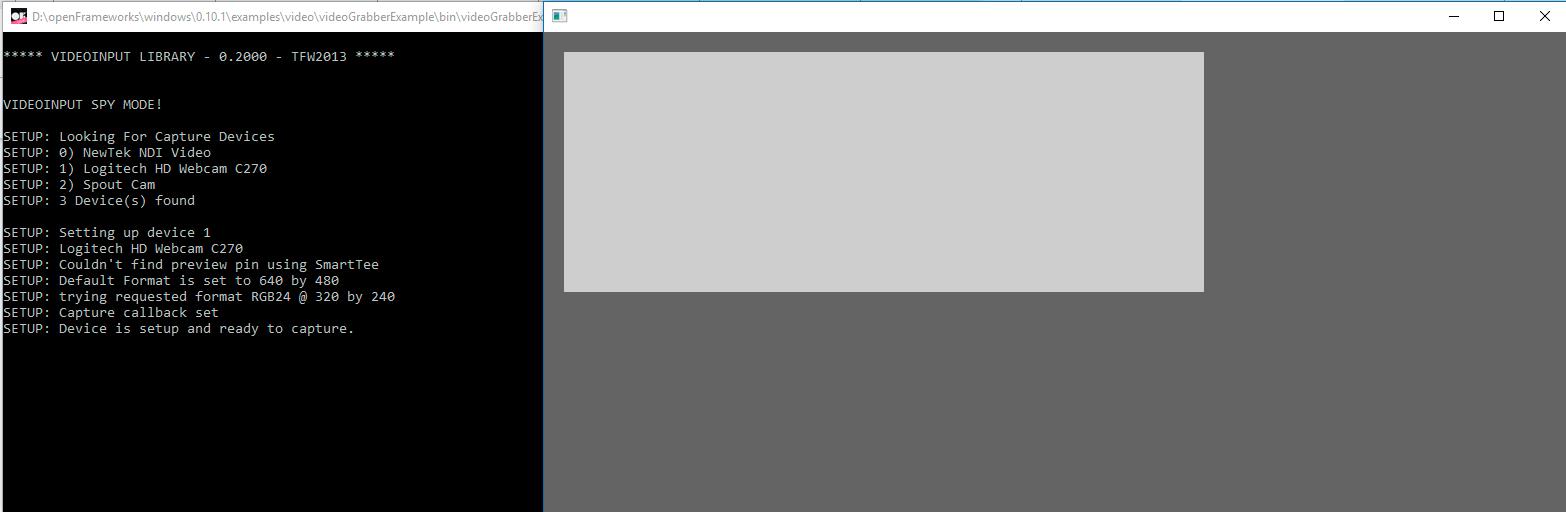 ofVideoGrabber issue - bugs, errors - openFrameworks