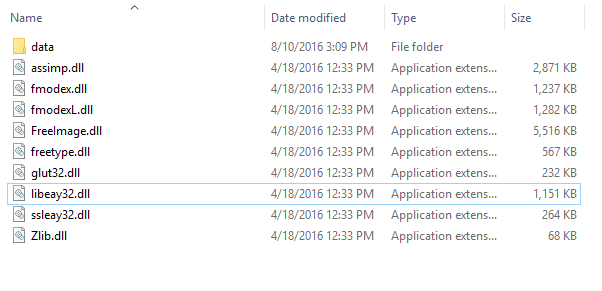 Unable to compile OF (missing  dll files) on a 64-bit Windows