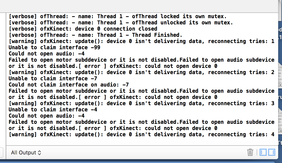 ofxKinect Xcode 7 Build Failed - error in usb_libusb10 c - x