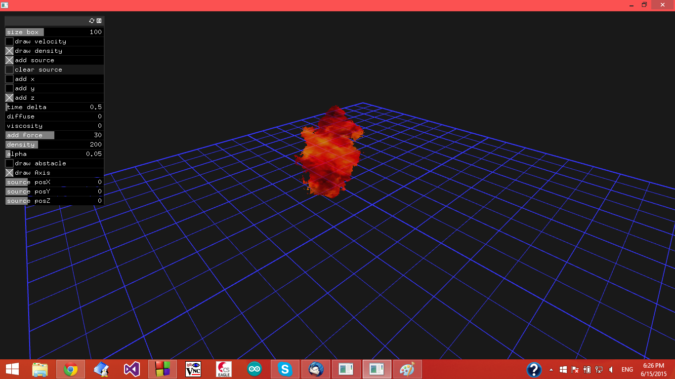 3DFire study fluid simulation - examples - openFrameworks
