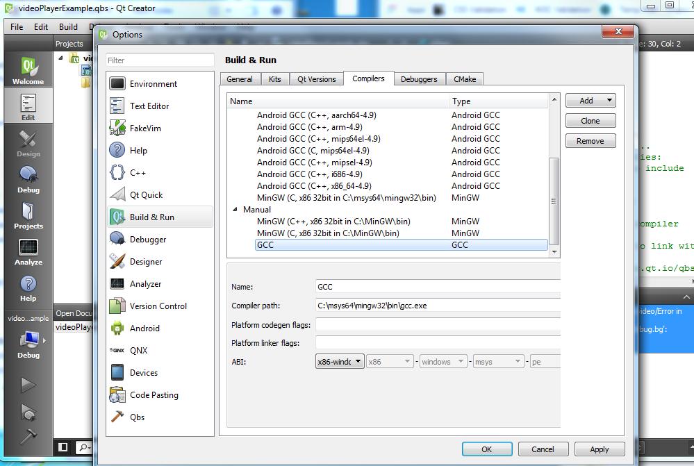Setup qt windows make bash: make: command not found