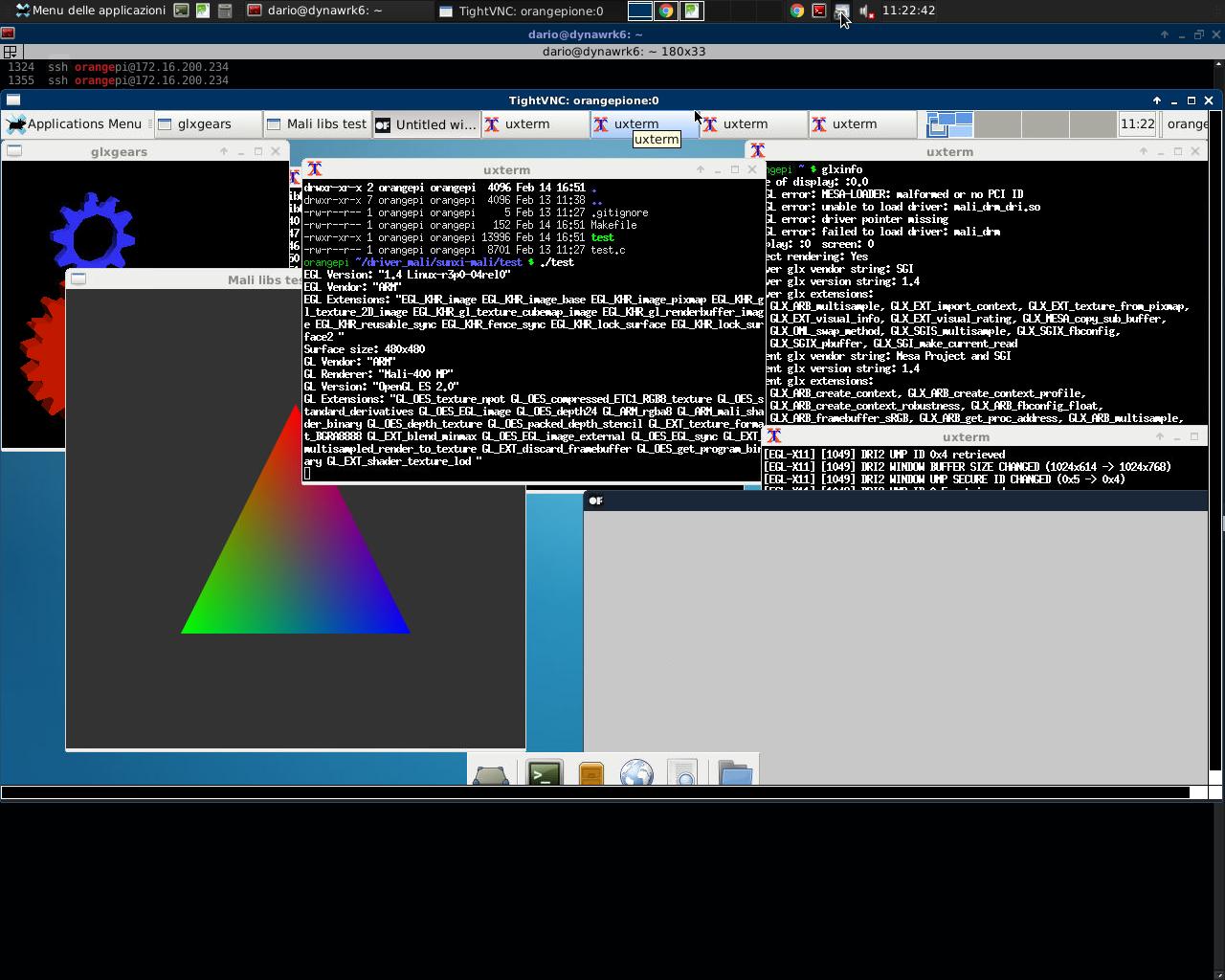 Guide install Driver OpenGL ES/ES2 for Mali GPU (orangepi