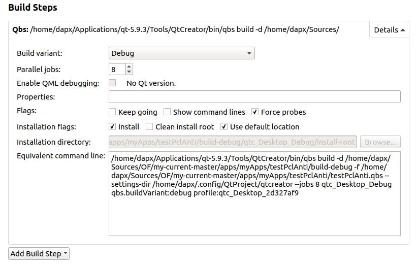 qtCreator adding addons to new project - beginners - openFrameworks