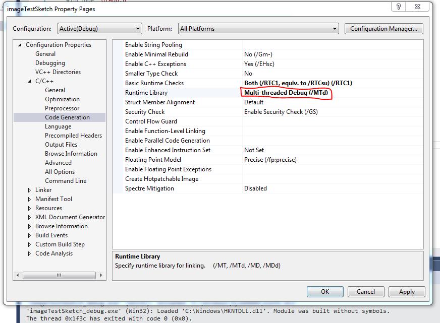 openFrameworks static linking or memory management problem